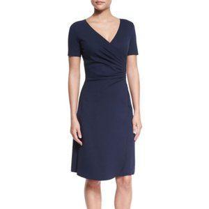 ARMANI COLLEZIONI Milano Jersey Faux-Wrap Dress 10